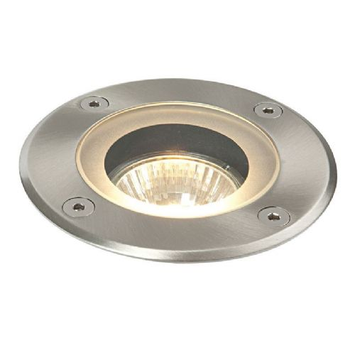 Marine grade brushed stainless steel & clear glass Ground Light 52212 by Endon
